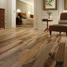 This brazilian pecan hardwood floor allows for amazing color variation.