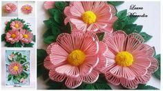 Haz hermosas flores de papel con la técnica del alfiler paso a paso