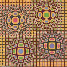Quadrature - (Victor Vasarely)