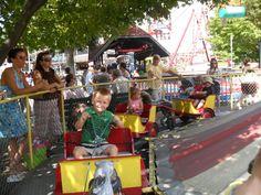 Boy Riding Pony Carts