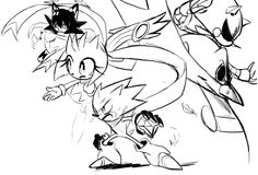 some Sonic Skyline doodles on MS paintSonic exe is there just because of improvisation.. but will not be included on the au XD…