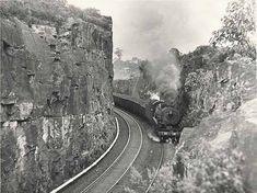[Class 5719 locomotive enroute through the Blue Mountains (NSW)] Blue Mountain State, Blue Mountains Australia, Rail Transport, Local History, Steam Locomotive, Trains, Sydney, Transportation, Art Photography