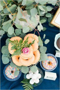 Best idea ever - donut bar bridal shower! http://www.stylemepretty.com/living/2015/04/07/diy-donut-bar/ | Photography: Plum & Oak - http://plumandoakphoto.com/