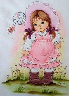 Riscos para Pintura em Tecido: Flores, Bonecas e Frutas +46 Fotos
