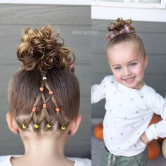Halloween hair style - candy corn - toddler hair ideas