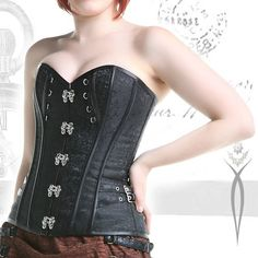 Black steampunk corset Brown steampunk corset corset with