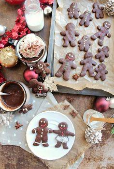 Vegan Chocolate Gingerbread Men + Almond Milk Hot Chocolate