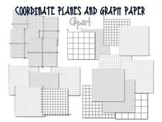 Coordinate Planes and Graph Paper Clip Art  from the Enlightened Elephant on TpT