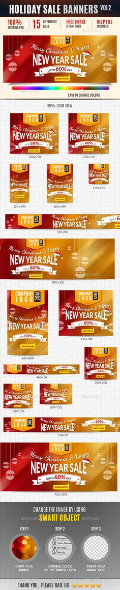 Holiday Web Ad Banners Vol2 - Banners & Ads Web Template PSD. Download here: http://graphicriver.net/item/holiday-web-ad-banners-vol2/9774825?s_rank=1282&ref=yinkira