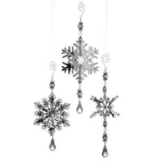 Z Gallerie - 3-D Snowflake Ornaments