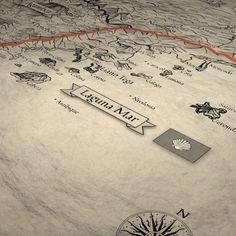 """Othersides handelt auf einem Kontinent, der aus fünf Ländern besteht. Nach Jahren des Krieges wurde eine Mauer errichtet, die Nordstaaten und Südstaaten voneinander abschottet. Seither entwickeln sich die beiden Seiten in ganz unterschiedliche Richtungen. Wo der Süden auf die Technik schwört, nutzt der Norden: Magie. *Eigenwerbung* Seit dem 30.01.21 gibt es """"Othersides: Zwei Welten"""" auch als Taschenbuch! Fantasy Map Making, The South, Self Promotion, Continents, Pocket Books"""