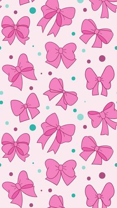 Bows and polka dots, girly pink and green print pattern bow wallpaper iphone, locked Bow Wallpaper Iphone, Kawaii Wallpaper, Trendy Wallpaper, Pink Wallpaper, Disney Wallpaper, Pattern Wallpaper, Cute Wallpapers, Wallpaper Backgrounds, Printable Scrapbook Paper