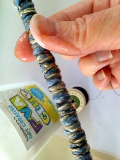 Crafting a Life: How to: 5 easy steps to make fabric beads