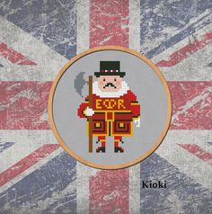 Cross stitch pattern Beefeater Instant Download PDF