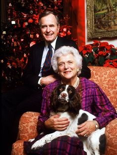 "George H. Bush is ""broken-hearted"" and held Barbara Bush's hand for hours on the day she died, a spokeswoman for George H. Bush says. Cool Pet Names, Best Dog Names, Best Dogs, American Presidents, Us Presidents, American Soldiers, American First Ladies, American Women, Bush Family"