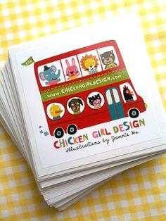 Chickengirl Design Stickers by Jannie Ho