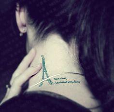 $5.99 4 Pcs Love Paris Eiffel Tower Temporary Tattoo Stickers - Tattoos - Makeup Free shipping