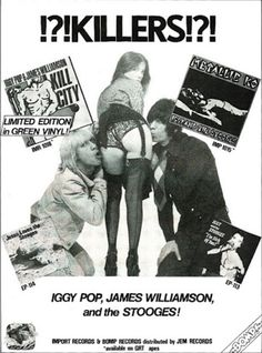 Publicidad de Iggy Pop y los Stooges [Bomp - 1978 - Issue March Iggy And The Stooges, Mick Ronson, New Flyer, Rock Posters, Music Posters, Dangerous Minds, Iggy Pop, Pop Heroes, British Rock