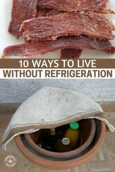 10 Ways to Live Without Refrigeration - This article goes into detail on how its possible to live and thrive without the convenience. Its possible but you will have to develop a new set of skills. The author does a great job of listing the practices . Survival Life, Homestead Survival, Survival Food, Wilderness Survival, Outdoor Survival, Survival Prepping, Survival Skills, Survival Hacks, Survival Weapons