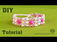 DIY: Triple Spiral Knot Bracelet with Beads ★ Easy Tutorial - YouTube