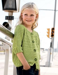 Knitting patterns children cardigan girls sweaters 69 new ideas Baby Knitting Patterns, Knitting For Kids, Crochet For Kids, Free Knitting, Knit Crochet, Crochet Patterns, Crochet Stitches, Knit Cardigan Pattern, Sweater Patterns