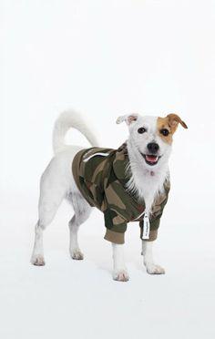 OnePiece Dog Style Onesie Camo Green
