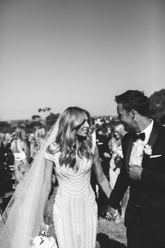 walking back down the aisle, happy as can be!
