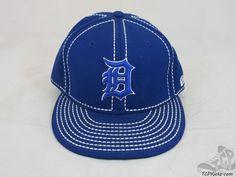 Mens New Era 59 50 Fifty Detroit Tigers MLB Fitted Baseball Hat Cap AL sz 7 3/8 #NewEra #DetroitTigers  #tcpkickz