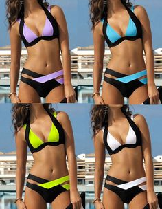 Sexy Women Bikini Set Bandage Push Up Padded Bra Swimsuit Bathing Suit Swimwear | eBay