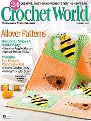 Looking for a Pattern? Purchase a Back Issue of Crochet World - Winter - February 2014 Knitting Books, Crochet Books, Crochet Doilies, Baby Knitting, Free Crochet, Knit Crochet, Crochet Hats, Afghan Crochet, Thread Crochet