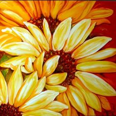 oil painting sunflowers -