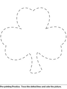 Shamrock Template For St PatrickS Day Crafts  HolidaySt