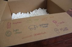 I-Spy with Packing Peanuts from Toddler Approved