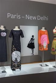 Julie Skarland, one of -a-kind couture, from the exhibition Paris -New Delhi - Oslo, 2014 at The National Museum , Oslo- Norway.