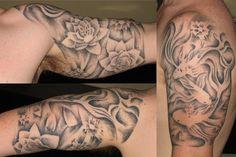 half arm tattoos