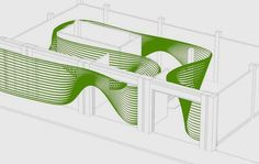 Home of Penda - Ribbon Gallery Architecture Mapping, Architecture Sketchbook, Space Architecture, Ceiling Design, Wall Design, Exhibition Booth Design, Parametric Design, Entrance Design, Co Working