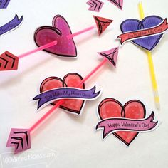 Valentines and Glow Sticks – You Make My Heart Glow FREE Printable