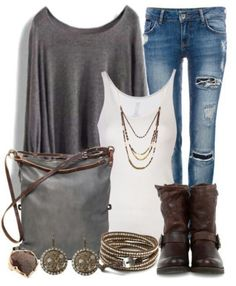 Simple, casual outfit with boots | Clothes | Fashion