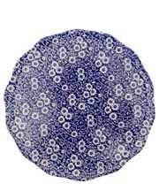 Blue Calico Earthenware Cake Plate