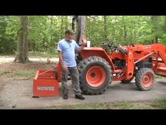 """""""the box blade"""" By David S Dobb its all about the angle of the dangle! if you want to remove a lot of dirt to fill in holes or low spots you . Drainage Ditch, Tractor Accessories, Kubota Tractors, Tractor Implements, Tractor Attachments, House Foundation, All The Way Down, Blade, Dangles"""