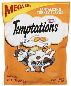 TEMPTATIONS Classic Treats for Cats Tantalizing Turkey Flavor 63 Ounces Pack of 5 * Find out more about the great product at the image link.