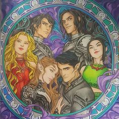 @charliebowater has ruined me for coloring books. I love all her drawings in the #ACOTAR coloring book! If I ever get my book published I want her to draw my characters! #charliebowater #sjmaas #courtofdreams #ilovecoloring #prismacolor #coloredpencils #coloringbooks #ACOWAR #nofilter