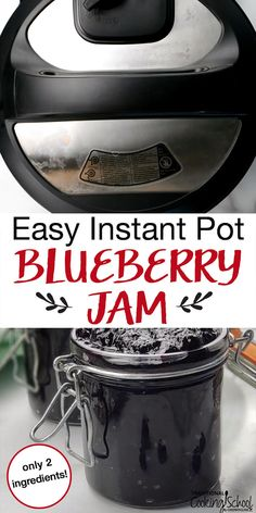 Easy Instant Pot Blueberry Jam just 2 ingredients! is part of Instant pot - You never knew you could make jam in the pressure cooker! This easy Instant Pot jam recipe has no pectin and just 2 ingredients! Instant Pot Pressure Cooker, Pressure Cooker Recipes, Pressure Cooking, Roast Pork In Pressure Cooker, Pressure Canning Recipes, Blueberry Jam, Blueberry Recipes, Blueberry Freezer Jam, Blueberry Ideas