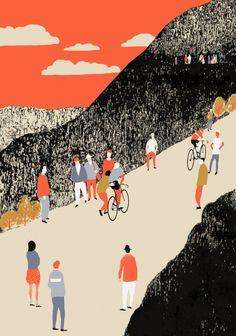 Screen prints – cycling ‹ Eliza Southwood – Illustrator