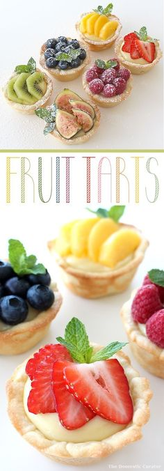 The Domestic Curator: SUMMERY FRUIT TARTS