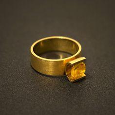 anel citrino antonio bernardo em ouro amarelo - jóias antonio bernardo