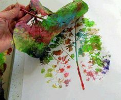Leaf craft (no tutorials, but great fall craft ideas and a children's book on why leaves change color)