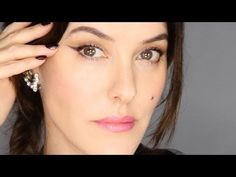 ▶ Easy, Effortless Winged Liner - My Night Out Look - YouTube (Flicky line for those who can't do a flicky line)