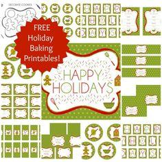 Free Holiday Baking Party Printables! #printables #christmas