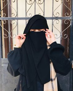 Hijab Niqab, Muslim Hijab, Mode Hijab, Hijab Outfit, Beautiful Muslim Women, Beautiful Hijab, Niqab Fashion, Islam Women, Muslim Beauty